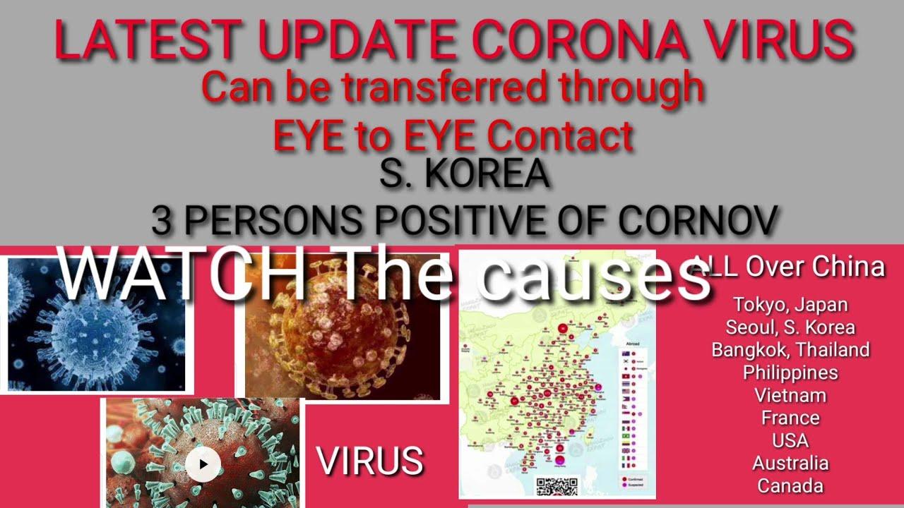 Coronavirus eye contact   BREAKING NEWS: Wuhan Coronavirus Can Be ...