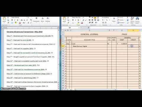 how to make general journal entries in accounting