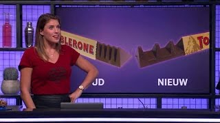 Toblerone eten: je deed het al die tijd verkeerd! - RTL LATE NIGHT