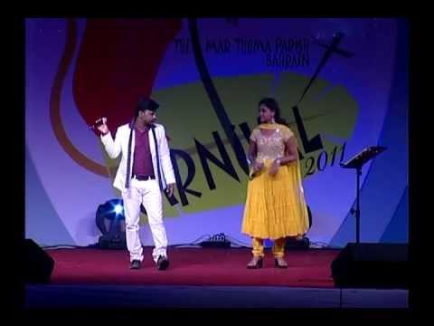 Vada Vada Paaiya Idea Star Singer Winner Joby & Shika Performing in Bahrain.avi