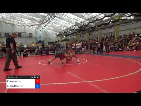 2018 UWW Cadet And U23 Nationals/UWW Cadet Freestyle 71 Round Of 16 - Kyle Mosher (Vhw) Vs. Aaron