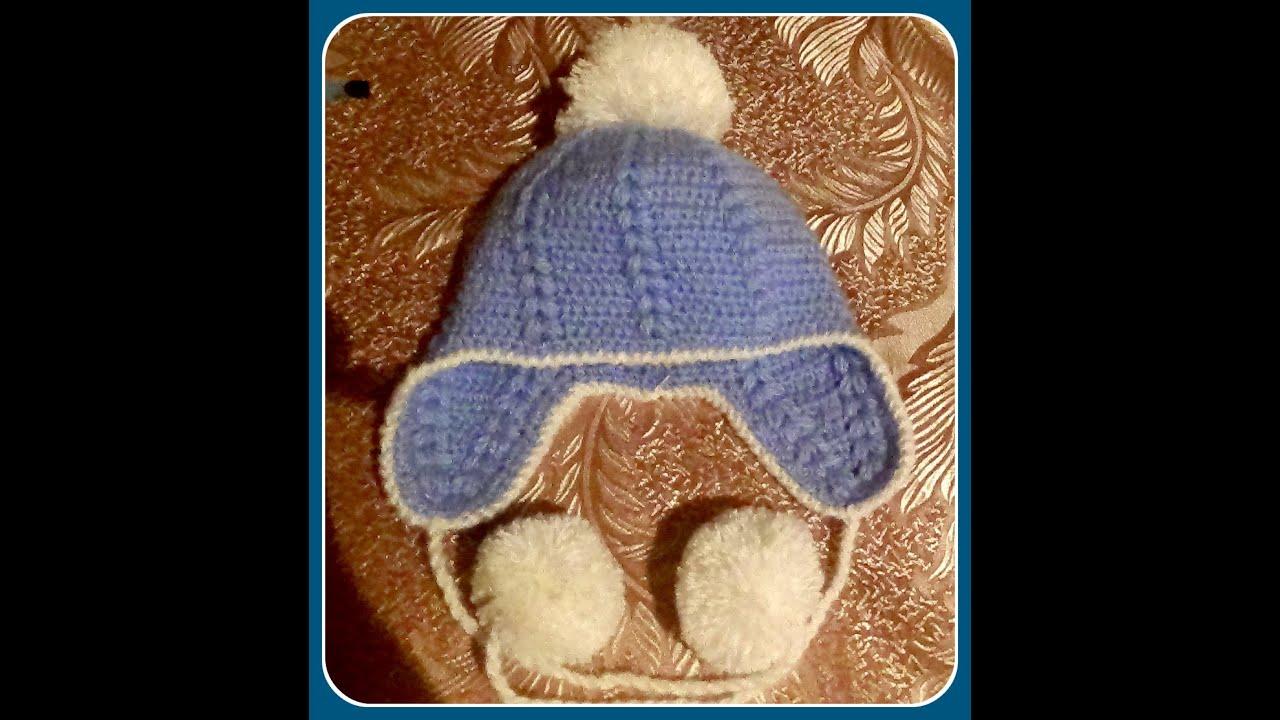 схема вязки шапочки белочка крючком