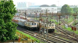 15k Subscribers Special Parallel Action Between Two WAP7 High Speed Bikaner Express | Jaynagar Exp