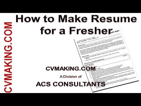 Freshers Resumes