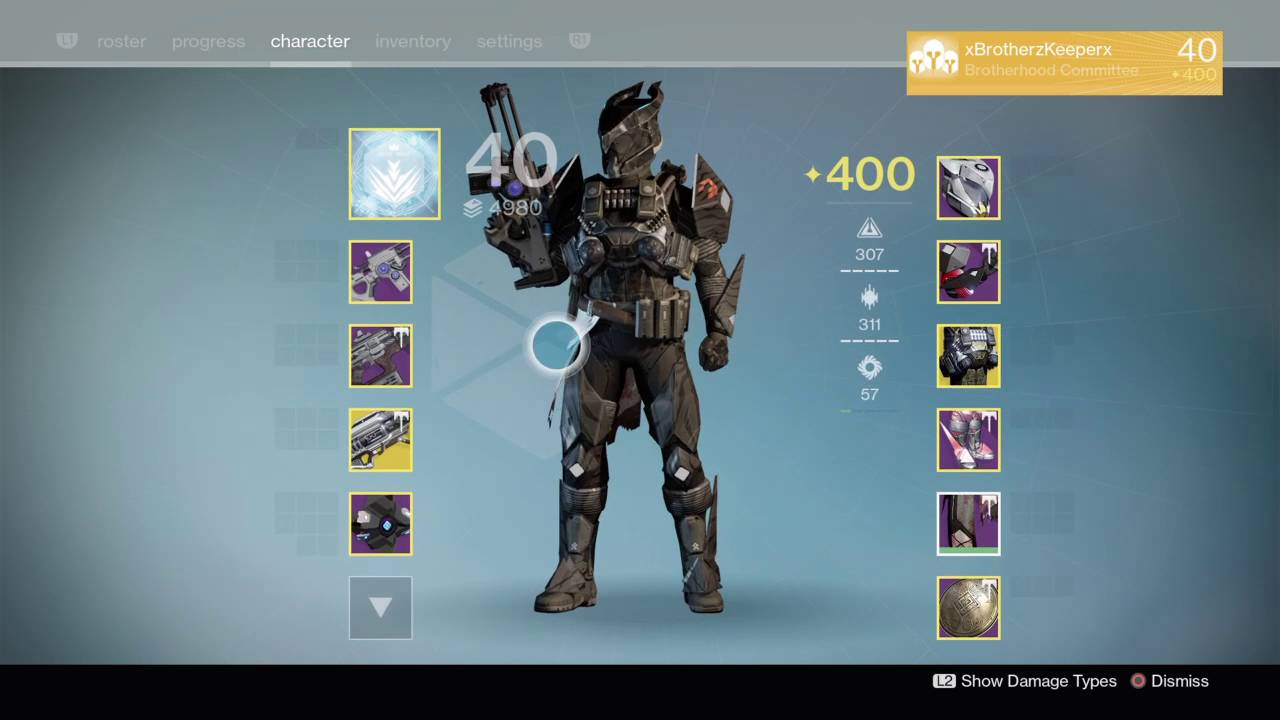 destiny titan light level 400 pvp pve setup youtube. Black Bedroom Furniture Sets. Home Design Ideas