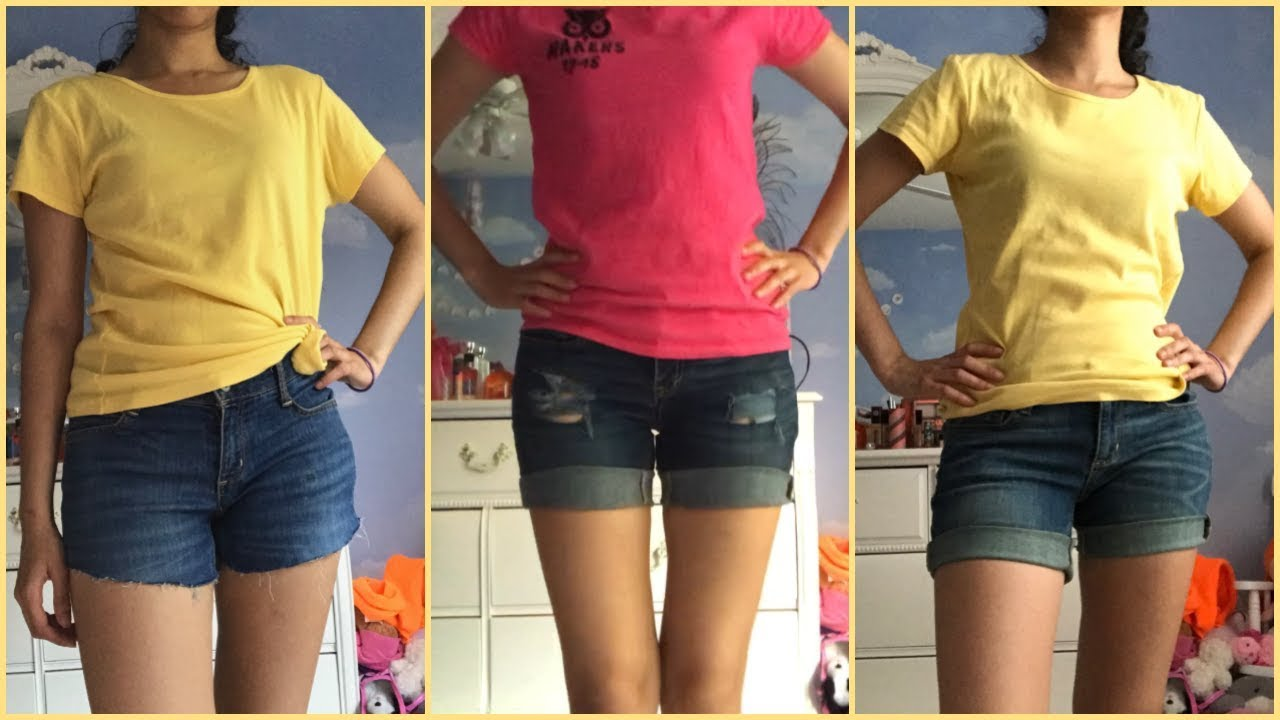 [VIDEO] - DIY Denim Shorts with me! | Easy Summer DIY 4