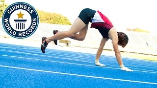 Fastest 100 m running on all fours - Guinness World Records