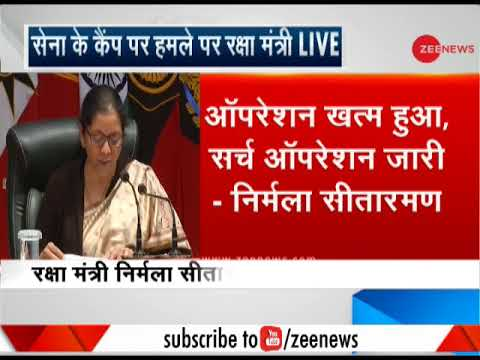 Watch: Defence Minister Nirmala Sitharaman addresses press conference