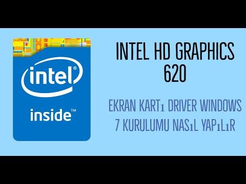 Intel HD Graphics 620 Ekran Kartı driver Windows 7 kurulumu