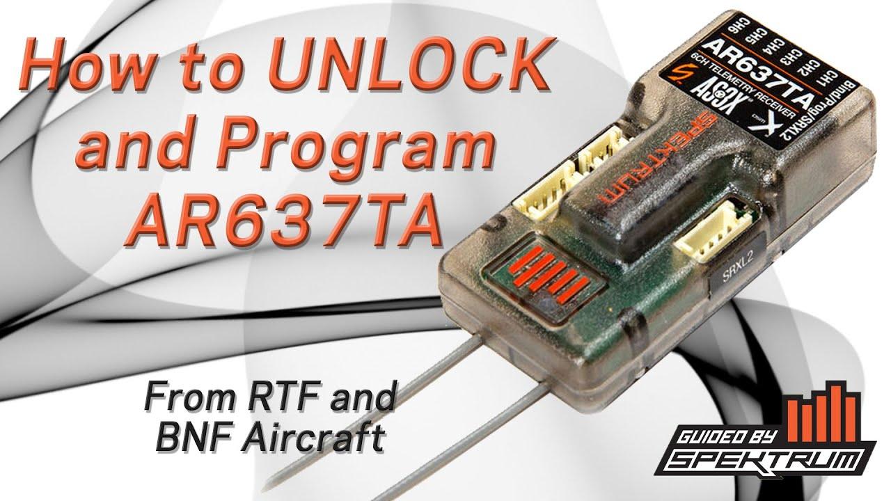 How to UNLOCK your Spektrum AR637TA - Open Beta Update