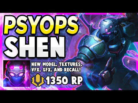 *NEW* PSYOPS SHEN SKIN IS ABSOLUTE PERFECTION! - League of Legends