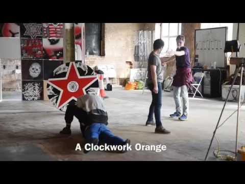 Rehearsal of 'A Clockwork Orange' by the MoCo Theatre Company