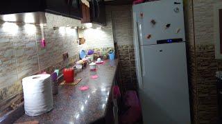 جولة في مطبخى ❤😍 غيرت شكل الرخامة😍 وعملت كورنر للقهوة 😋☕