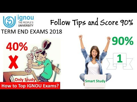90% in IGNOU Exam | Follow these tips and get Success | Term End Exam 2018