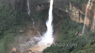 Nohkalikai Falls in Cherapunji - Tallest plunge waterfall in India