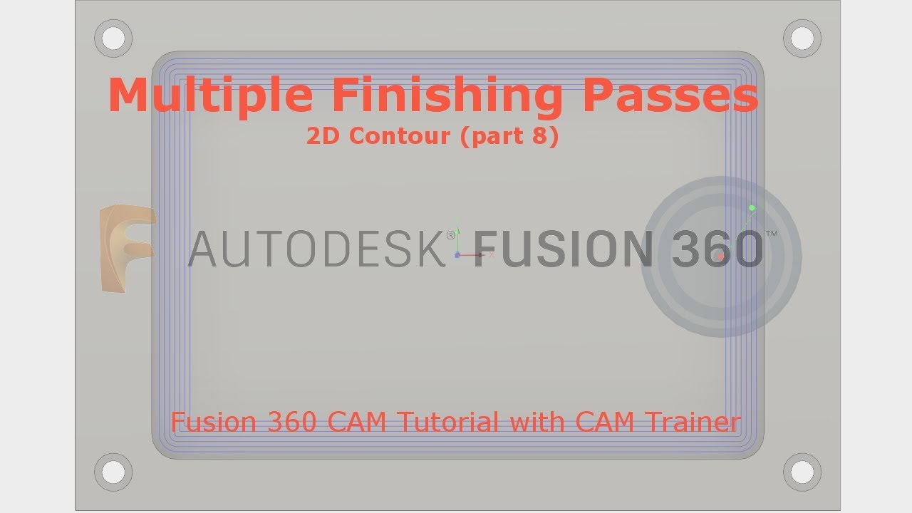 Fusion 360 CAM - Multiple Finishing Passes and Finishing Smoothing  Deviation - 2D Contour part 8