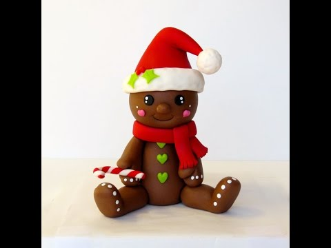 How To Make A Gingerbread Man Cake Topper Youtube