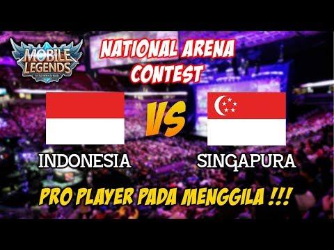 Pro Player pada menggila Indonesia vs Singapura National Arena Contest