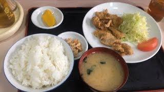 明喜屋の豚肉の竜田揚定食(西武柳沢)