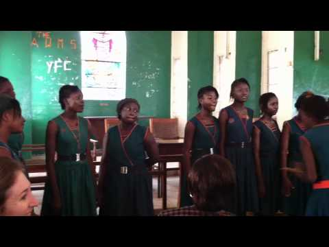 Girls' Choir at the Annie Walsh School in Sierra Leone