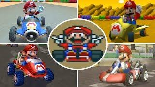Evolution of  Mario in Mario Kart Games