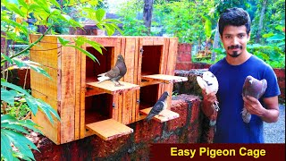 How To Make Pigeon Cage at Home Using Wood | Easy Way To Make Pigeon House