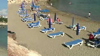 Кипр Протарас Пернера Прогулка в порт и дальше по пляжам Октябрь 2018 год