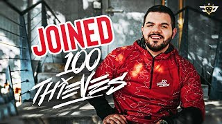 COURAGE JOINS 100 THIEVES!!! LIVE REACTION!!!