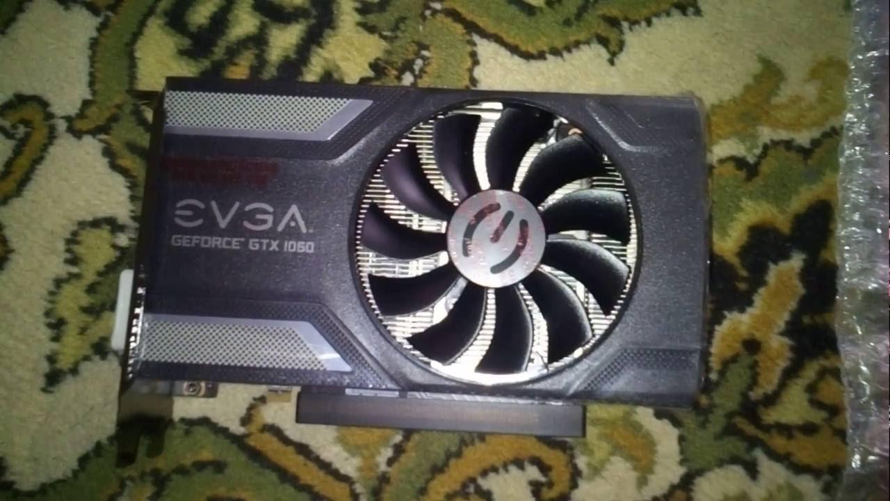 Распаковка Evga Gtx 1060 SC 6gb