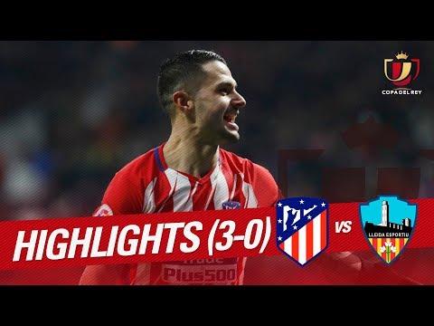 Resumen de Atlético de Madrid vs Lleida Esportiu (3-0)