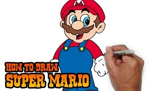 How to Draw Super Mario- Simple Video Lesson