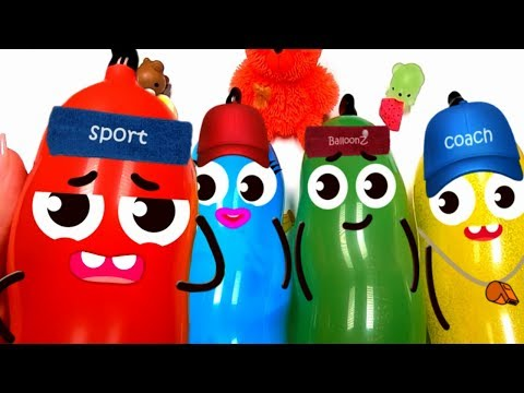 Making Red Slime with Balloons Colors Doodles #7 | SPORT EDITION | ST Slime