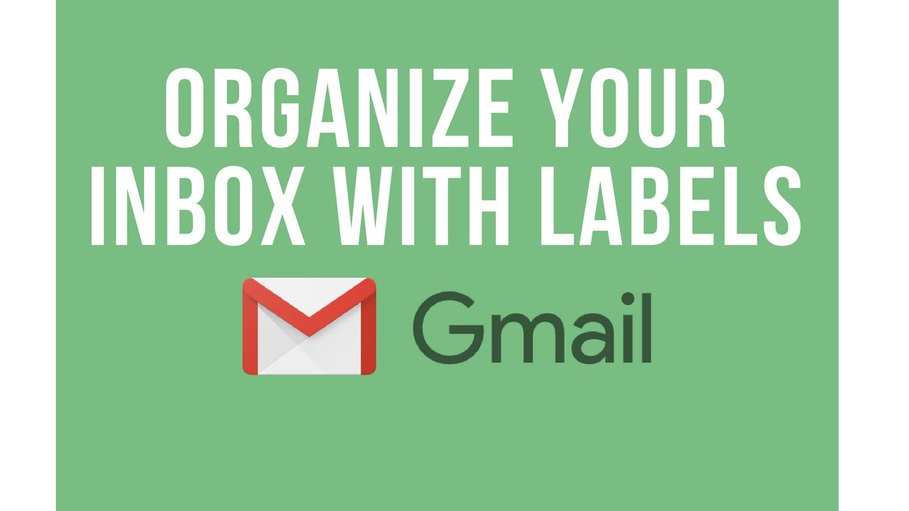 G Suite Training: How to organize messages with labels in Gmail