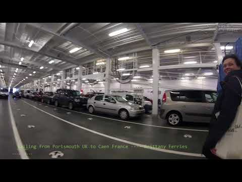 446 Sailing from Portsmouth UK to Caen France FERRY Brittany Ferries