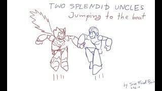 Two Splendid Uncles Jumping to the Beat