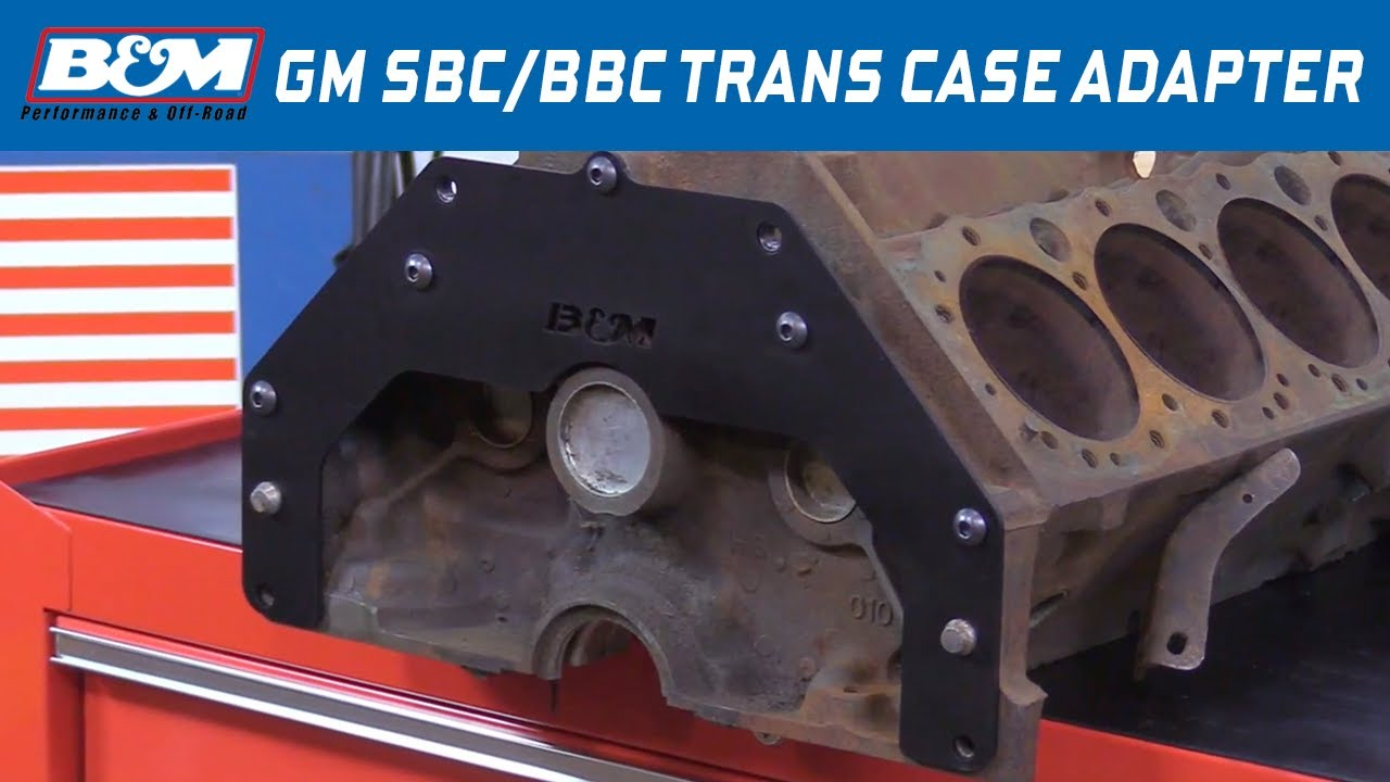 B&M Transmission Adapter Plate - SBC/BBC to Buick, Olds, Pontiac ...