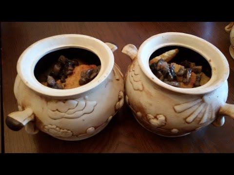 Драники или деруны в горшке с грибами  рецепт без регистрации и смс