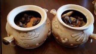 Драники или деруны в горшке с грибами + рецепт