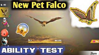 Free Fire New Pet Falco Ability Test | Max Level | Garena Free Fire Battlegrounds.