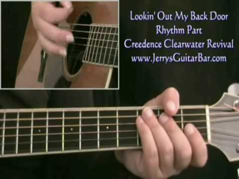 How To Play Creedence Lookin' Out My Back Door (intro only)
