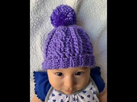 Babies Cable Knit Pom Pom hat Newborn to 12 months Various colours available