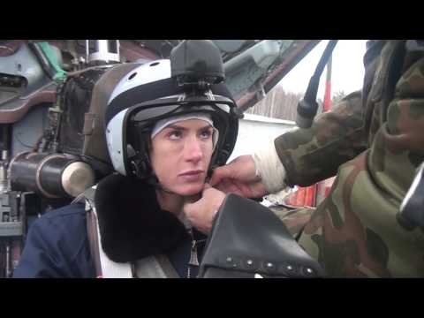 Pauline Nordin Stratosphere flight in the MiG-29