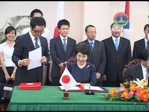 Lao News on LNTV-The Japanese government funds three new hydropower in Laos  28/03/2013
