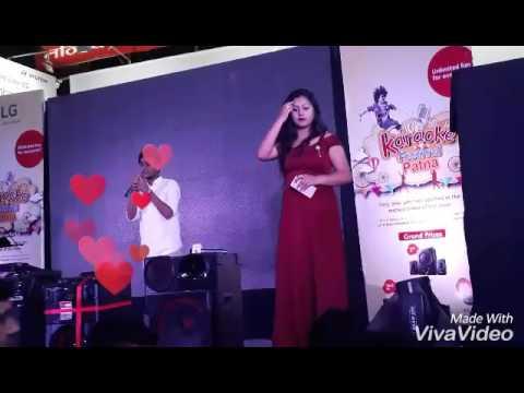 My #Ist stage performance @karaoke fest. patna 2017