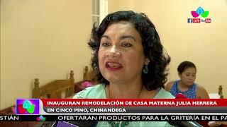 Inauguran remodelación de casa materna Julia Herrera en Cinco Pino, Chinandega