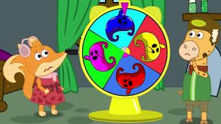 The Fox Family and friends swimming in rainbow pool - cartoon for kids new full episodes #865