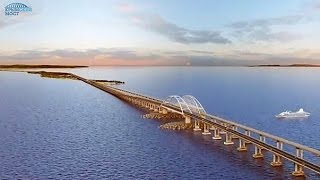 Крымский мост. Интерактивная презентация(Компьютерные дизайнеры реализовали в 3D-графике идеи инженеров-проектировщиков, которые к концу 2018 года..., 2015-10-02T13:31:10.000Z)