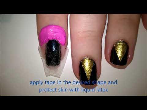 Easy Nail Art Tutorial Black Gold