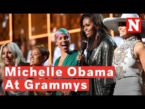 Watch: Michelle Obama Surprises Crowd At 2019 Grammys