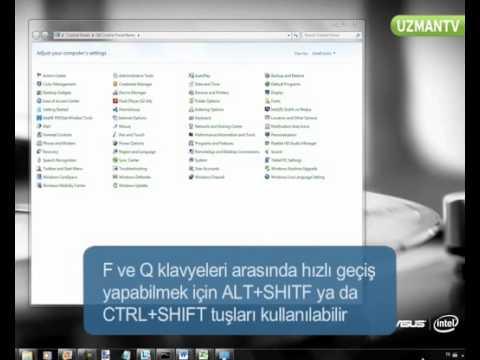 Windows 7 F Ve Q Klavyeler Arasında Nasıl Geçiş Yapabiliriz | Gelarabul.com